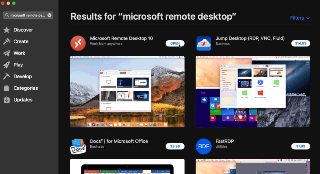 microsoft remote desktop on mac os x